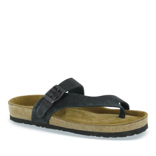 Naot Womens Tahoe Leather Sandals Noir
