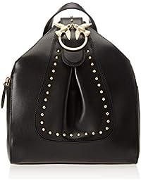 Pinko Alkan Backpack Vitello Seta, Zaino Donna, 15x29x25 cm (W x H x L)