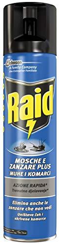Raid Mosche & Zanzare Insetticida Spray - 3 pezzi da 400 ml [1200 ml]