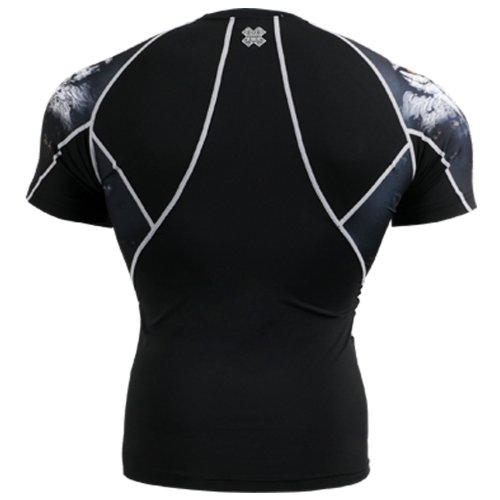 Fixgear Mens Womens Running Compression Base Layer Under Short Sleeve S ~ 2XL