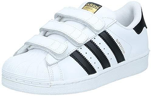 adidas Superstar Foundation Unisex-Kinder Sneakers, Weiß (Foundatio Ftwwht/Cbl), EU 33