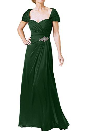 Ivydressing Damen Stilvoll Herzform A-Linie Ballkleid Lang Promkleid  Festkleid Abendkleid Dunkelgruen