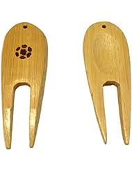 LL-Golf® 10 Golf bambú arreglapiques/Divot Tool, naturaleza