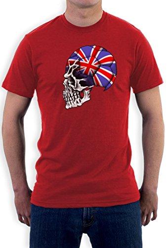 Großbritannien Weltmeisterschaft Schädel T-Shirt Rot
