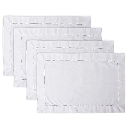 DII Everyday Basic Everyday Servietten-Set aus 100% Baumwolle, 45,7 x 45,7 cm, Aquamarin Placemat gebrochenes weiß 4 Servietten Basic