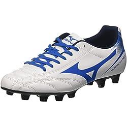 Mizuno Monarcida Neo Md, Scarpe da Calcio Uomo, Bianco (White/Directoire Blue), 44.5 EU