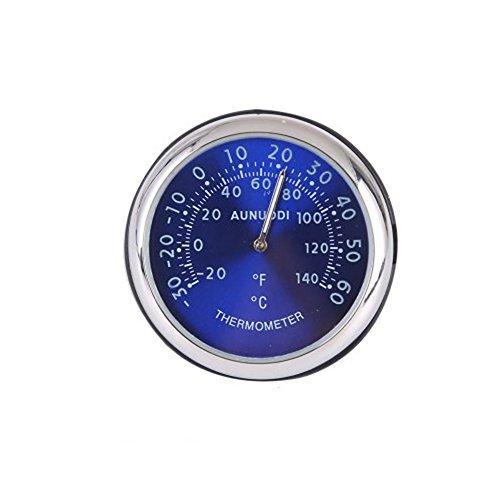 Preisvergleich Produktbild XMDZ Thermometer Analog Auto KFZ Innen Temperatur Anzeige mit Armaturenbretthalterung Fahrenheit/Celsius Lesungen Blau