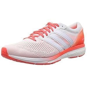 adidas Adizero Boston 6 M, Zapatillas de Running para Hombre, Blanco Ftwbla/Rojsol, 39 1/3 EU