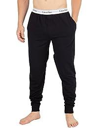 Calvin Klein Hombre Logo Pijama Bottoms, Negro