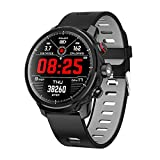 Bluetooth Smart Watch Fitness Tracker IP68 wasserdichtes Smart-socken Kompatibel mit iOS und Android Gesundheitsmanagement-Informationssynchronisierung L5 langlebiger Akku