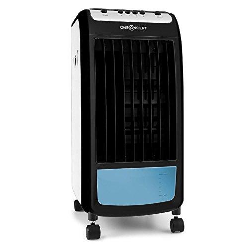 oneConcept CarribeanBlue Climatizador, humidificador, ventilador con ruedas (70W bajo consumo,...