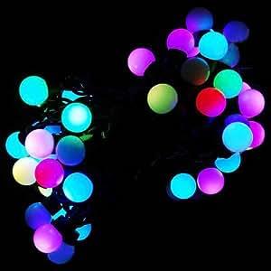 Guirlande 5 M avec 40 Boules LED Multicolores Pour Noël Mariages Vacances