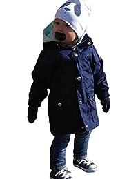 Automne Hiver Vêtements pour bébé, Moonuy Enfant fille garçon Hooded chaud longue veste enfants attrayants couleur solide manteau zippé tranchée usure Casual