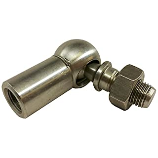 J.W. Winco 8LXG3/B DIN71802-NI Ball Joint, 13 mm Diameter, M8 x 1.25 Tapped Left Hand Thread, M8 x 1.25 Threaded Shank, 16.5 mm Thread Length with Safety Catch