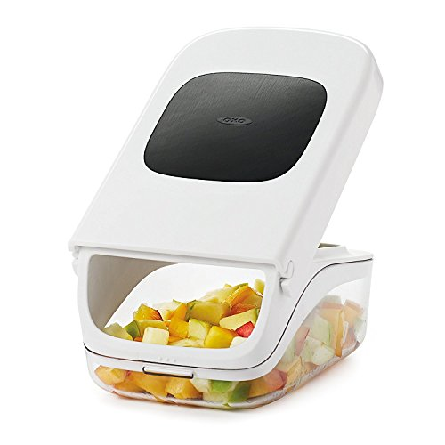 41XjFM5qnSL. SS500  - OXO Good Grips Vegetable Chopper with Easy Pour Opening - White