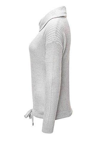 Hailys Damen Strickpullover Pullover Sweater Basic Light Grey Marl
