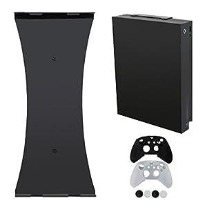 Pandaren Wandhalterung kompatibel für Xbox One X (4K-Modell) Ständer mit 1 Silikon-Controller-Abdeckung und 2…