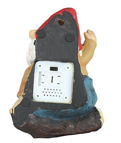 Dekofigur pfeifender Gartenzwerg Willi mit Bewegungsmelder zum aufhängen, Dekoration, Tür, Zwerg - 3