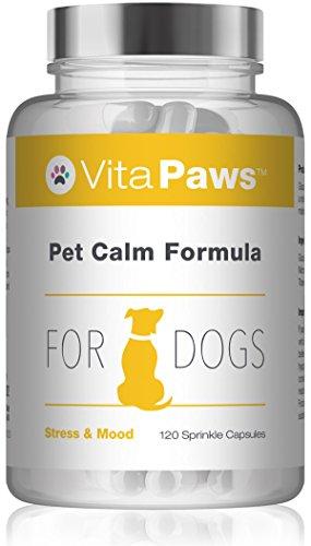 VitaPaws™ Fórmula calmante para perros | 120 cápsulas para espolvorear | Indicado...