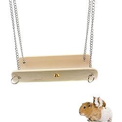 Emours Hamster en bois Hamac balançoire balançoire Cage d'exercice Jouets pour petits animaux