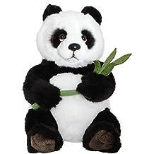 BRUBAKER Peluche Panda Oso 38 cm - hoja de bambú incluido