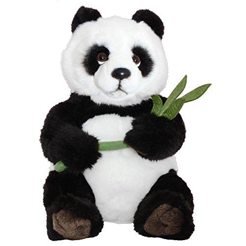 Brubaker Panda 38 cm groß mit Bambusblatt Stofftier Plüschtier Kuscheltier Teddybär