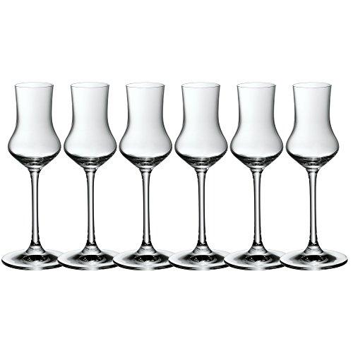 WMF easy Plus Obstbrandkelch-Set, 6-teilig, Kristallglas, 100 ml, spülmaschinengeeignet, transparent 6 Kelche
