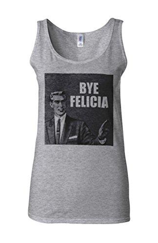 Bye Felicia Retro Drawing Funny Novelty White Femme Women Tricot de Corps Tank Top Vest Gris Sportif