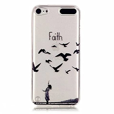 MOTOUREN Coque pour iPod Touch 5/Touch 6 Crystal Case Ultra Mince Protection en TPU Silicone Clair transparente Housse Etui Coque Pour iPod Touch 5/Touch 6-fille foi