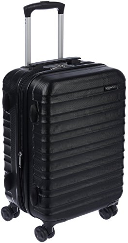 AmazonBasics - Valigia Trolley rigido, 55 cm (utilizzabile come bagaglio a mano di dimensioni standard), Nero