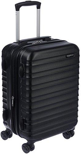 10 - AmazonBasics - Maleta de viaje rígida giratoria -  55 cm, Tamaño de cabina, Negro