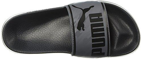 PUMA Unisex Leadcat New Skool Kids Slide Sandal Black-Iron gate  6 M US Big
