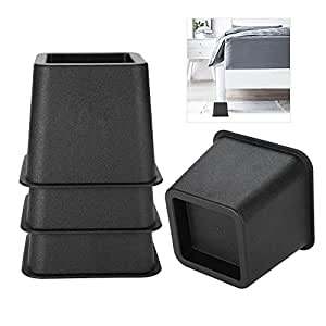 Adjustable Bed Risers or Furniture Riser,Table Risers Chair Risers or Sofa Risers Safest and Sturdiest Couch Bed Desk Lift Wont Scratch Floors Bed Riser