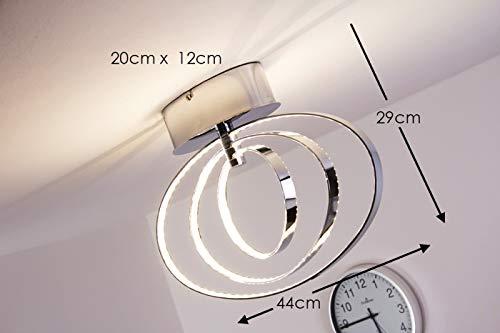 Plafoniera Led Soffitto Design : Led plafoniera lampada da soffitto design moderno anelli metallo