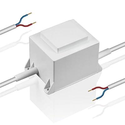 KS-Transformator 60W 12V, LED Trafo, Primär: 230V AC - Sekundär: 12V AC, Netzgerät, 12 Volt von SLV auf Lampenhans.de