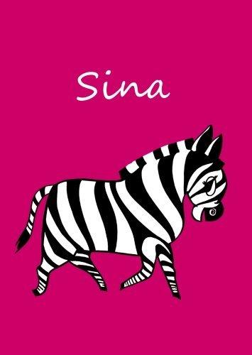 sina-personalisiertes-malbuch-notizbuch-tagebuch-zebra-a4-blanko