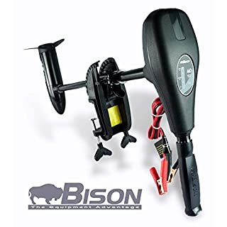 Bsion 40ft/lb 12v Electric Outboard Trolling Motor with Free Spare Propeller