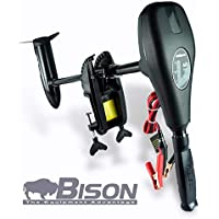 Bison - Motor eléctrico fuera de borda con hélice de repuesto de 3 palas (62 ft / lb 12v)