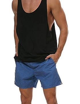 Bañador de Natación Boxer para Hombre, Hombre Bañador Traje de Baño Pantalones Cortos Playa Piscina
