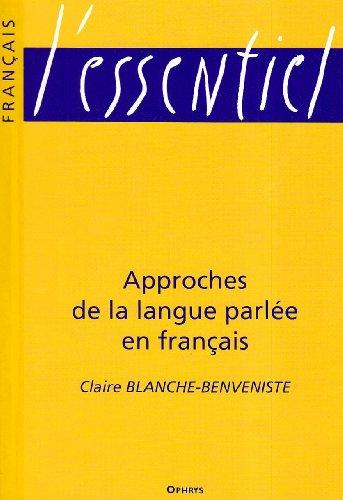 Approches de la langue parle en franais