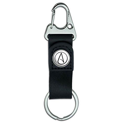 Gürtel-Clip auf Karabiner, Leder, Schlüsselanhänger, Symoble Atheism Atheist Symbol