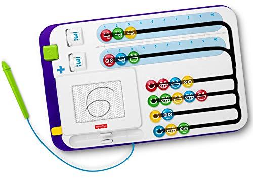 Mattel FNK69 Fisher-Price 1-2-3 Rechentafel mathematisches Lernspielzeug mit magnetischer Maltafel