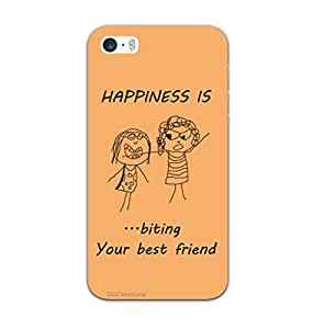 MiiCreations 3D Printed Back Cover for Apple Iphone 5s,Happiness Is Biting Ur Friend