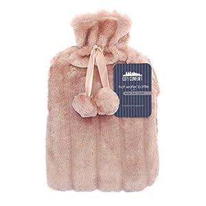 CityComfort Wärmflasche mit Super Soft Luxury Plüschbezug | 2 Liter Wärmflaschen | Britisches Design sicher und langlebig