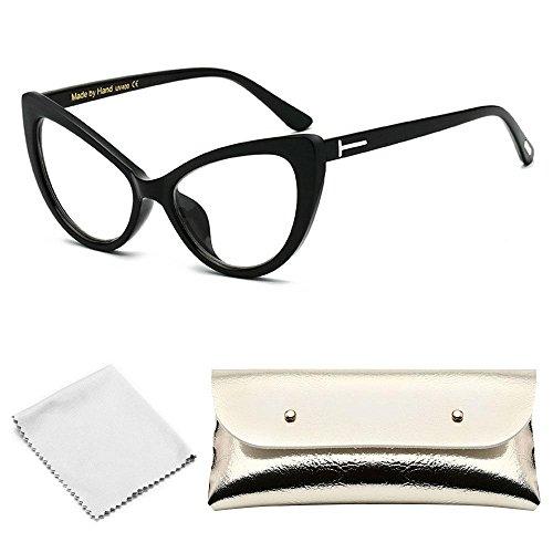 AOLVO Cat Eye Sonnenbrille, Neuheit Fashion Eyewear Sonnenbrille Vintage für Damen Herren Erwachsene Kinder Mädchen Kostüm Zubehör D (Einfache Cat Kostüme Für Frauen)