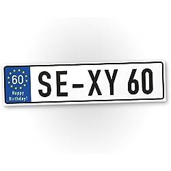 DankeDir! Plaque en Plastique Sexy 60 Ans - Cadeau 60 Ans - Idée Cadeau d'anniversaire Cadeau d'anniversaire d'anniversaire pour la fête ou la fête d'anniversaire