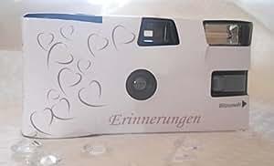 """10 x Einwegkamera """"Erinnerungen"""" weiß mit deutscher Anleitung und Fuji-Qualitätsfilm"""