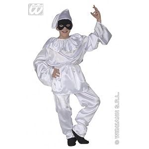WIDMANN WDM41977?Disfraz para niños de Pulcinella (140cm / 8-10años), color blanco, XS