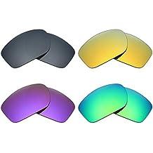 mryok 4 pares de lentes de repuesto para Oakley Valve – Gafas de sol polarizadas,