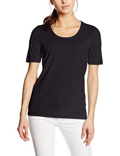 s.Oliver Single Jersey, T-Shirt Femme noir (BLACK 9999)
